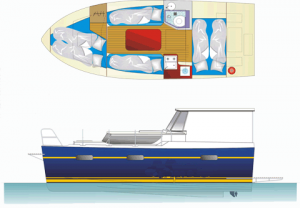 Hausboot Calipso 750 in Masuren